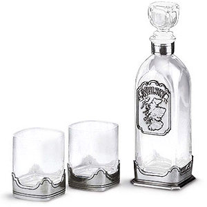 Scotch Whisky Pewter Glassware Set