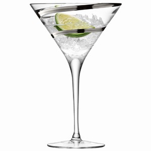 LSA Malika Grand Cocktail Glasses Platinum 12.3oz / 350ml