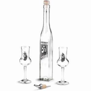 Schnapps Pewter Glassware Set