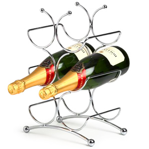 Circolare 6 Bottle Chrome Wine Rack
