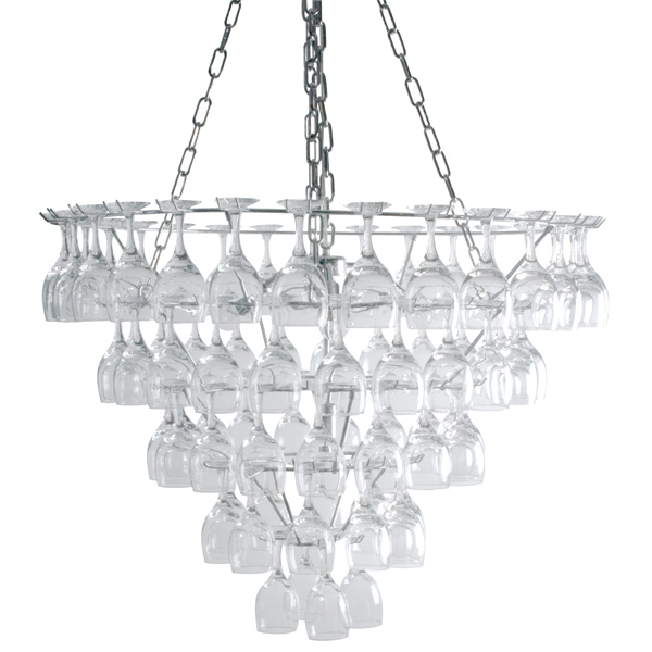 vino xl wine glass chandelier drinkstuff. Black Bedroom Furniture Sets. Home Design Ideas