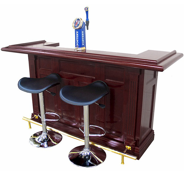 regal mahogany finish pub home bar drinkstuff. Black Bedroom Furniture Sets. Home Design Ideas