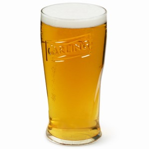 Carling Oversized Pint Glasses 23oz / 650ml