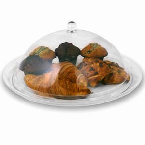 Polycarbonate Round Cake Dome with Tray