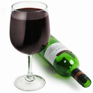 Wine Bottle In A Glass Glass