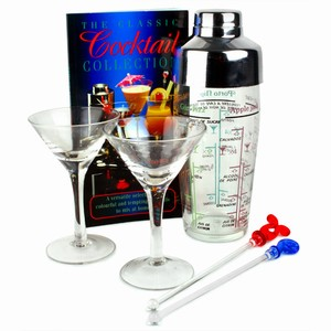 Cocktail Set with Martini Glasses