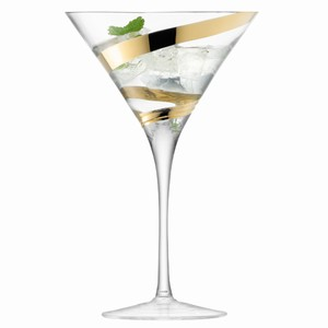 LSA Malika Grand Cocktail Glasses Gold 12.3oz / 350ml