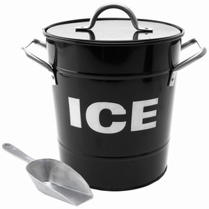 ICE Bucket Black with Scoop