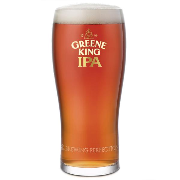 Greene King Ipa Pint Glasses Ce 20oz 568ml Drinkstuff