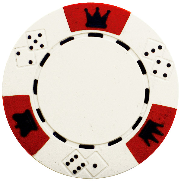 Crown And Dice Clay Poker Chips - Drinkstuff