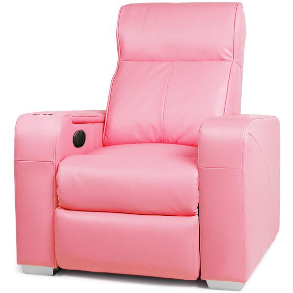 Premiere Home Cinema Chair Pink Cinema Seating Massage