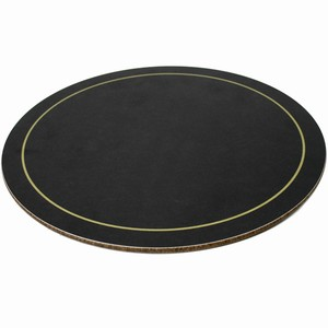 Melamine Round Tablemats Black