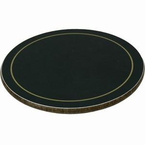 Melamine Round Coasters Black