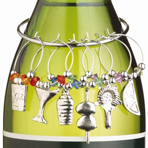 Decorative Wine Glass Martini Charms