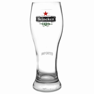 Heineken Half Pint Glasses 12.7oz LCE at 10oz