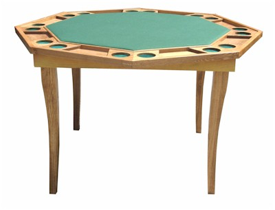 Octagonal Wooden Poker Table With Folding Legs