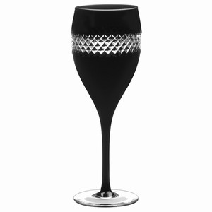 John Rocha Black Cut Red Wine Glasses 13.4oz / 380ml