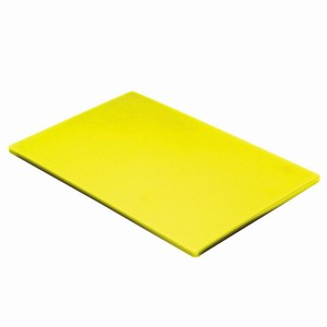 Colour Coded Chopping Board 1/2inch Yellow - Cooked Meats