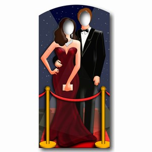 Red Carpet Stand-In Cardboard Cut Out
