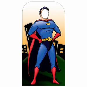 Superhero Stand-In Cardboard Cut Out