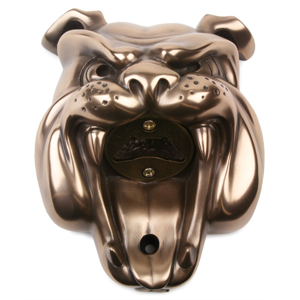 beer buddies bulldog wall mounted bottle opener drinkstuff. Black Bedroom Furniture Sets. Home Design Ideas
