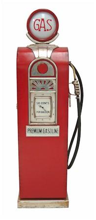 Gasoline Pump Storage Cabinet & Clock