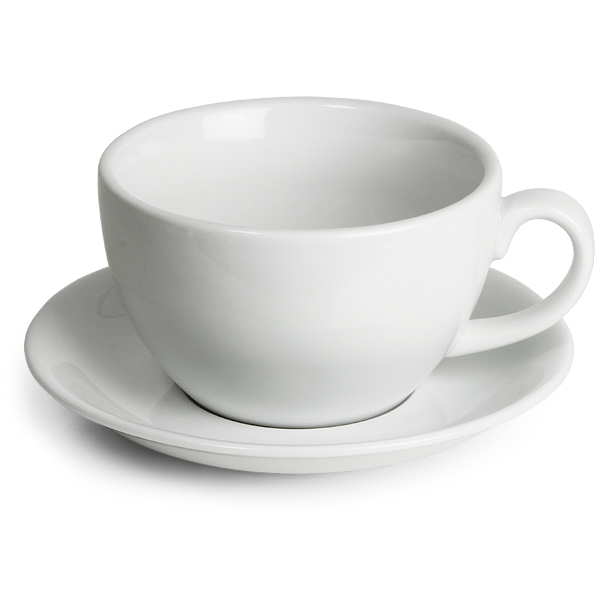 Royal Genware Bowl Cups Saucers 12oz 340ml Pack Of 6