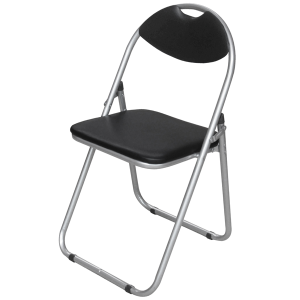 Premier Padded Folding Chair Black