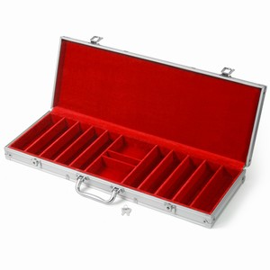 Professional Aluminium Chip Case 500 Red
