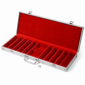 Professional Aluminium Chip Case 500 Red
