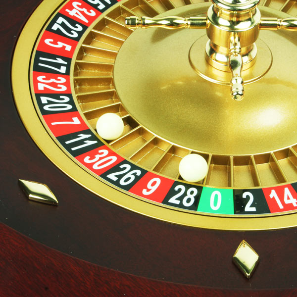 Double 0 roulette wheel
