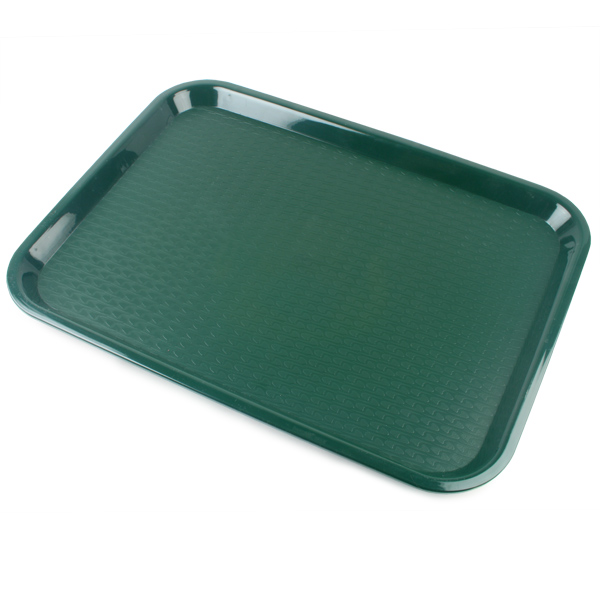 fast food tray large forest green 14 x 18inch food trays. Black Bedroom Furniture Sets. Home Design Ideas