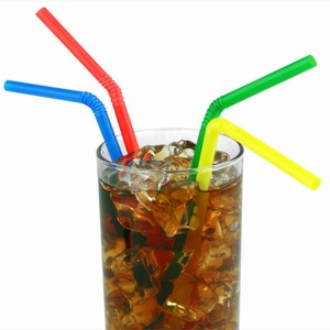 Summer Bright Bendy Straws