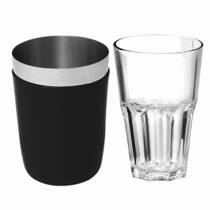 Vinyl Mini Boston Cocktail Shaker Black