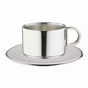 Stainless Steel Espresso Cup & Saucer CCD-10S 4oz / 100ml