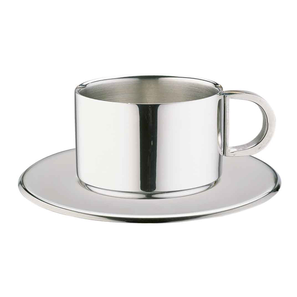 Stainless Steel Espresso Cup Saucer Ccd 10s 4oz 100ml