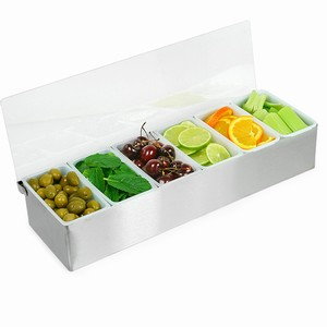 Condiment Dispenser 6 Compartment