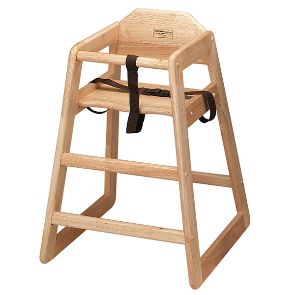 Wooden High Chair Natural  sc 1 st  Drinkstuff & Wooden High Chair Natural | Wooden Highchair Child Seat - Buy at ...