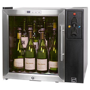 Pod Bar Wine and Champagne Preservation Cabinet