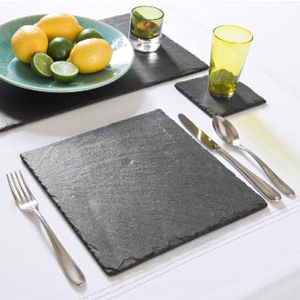 Just Slate Square Placemats