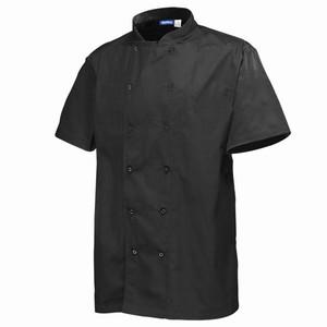 Chef's Basic Stud Short Sleeve Jacket Black Small