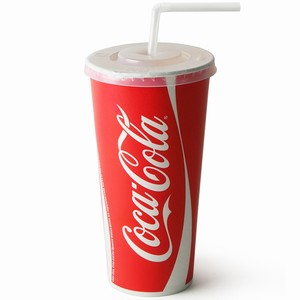 Coca Cola Paper Cups Set 22oz / 630ml
