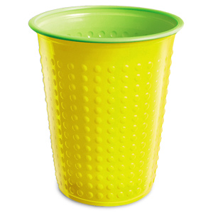 Bicolor Cups Yellow/Green 7oz / 210ml