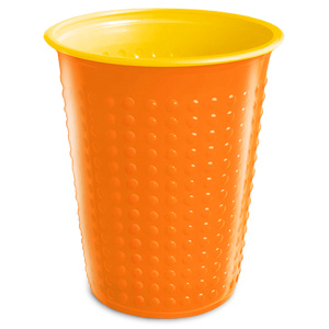 Bicolor Cups Orange/Yellow 7oz / 210ml