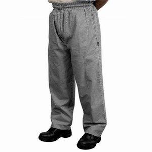 Chef's Baggy Trousers Black Micro Check Large