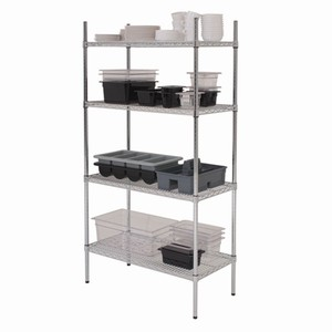 Genware 4 Tier Racking Unit 18 Inch Deep 3ft