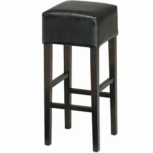 Palmas Leather Bar Stool Black