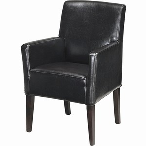 Palmas Leather Armchair Black