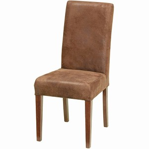 Ascot Aged Leather Dining Chair Brown