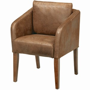 Ascot Aged Leather Armchair Brown